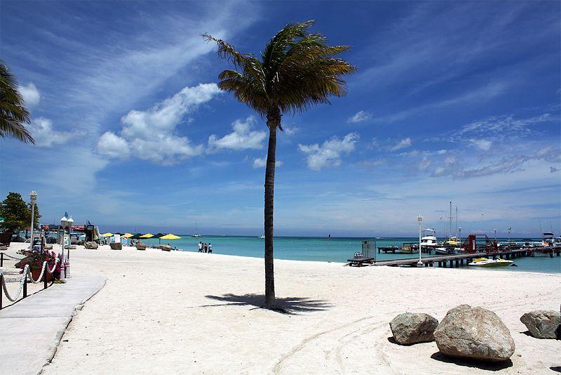 Praias do Caribe calmas
