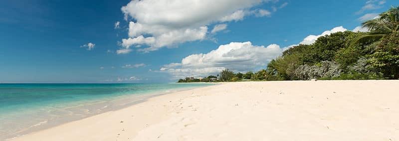Praias do Caribe muito calmas