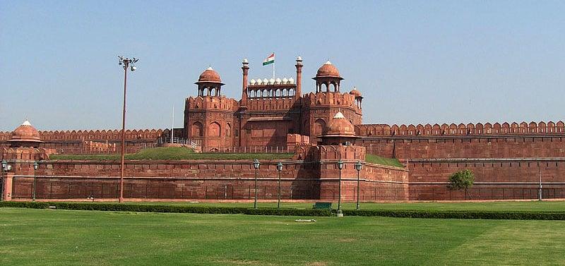 Forte Vermelho é perto de Taj Mahal