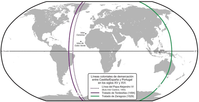 Tratado de Tordesilhas mapa