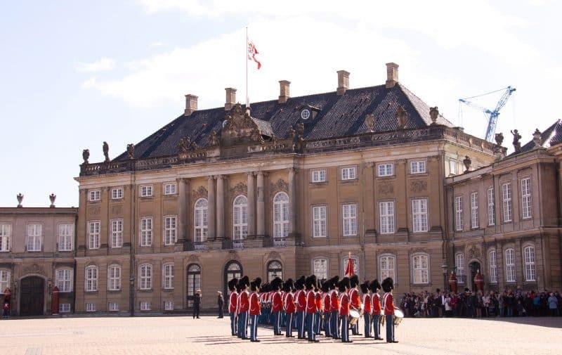 Palácio Amalienborg, na Dinamarca