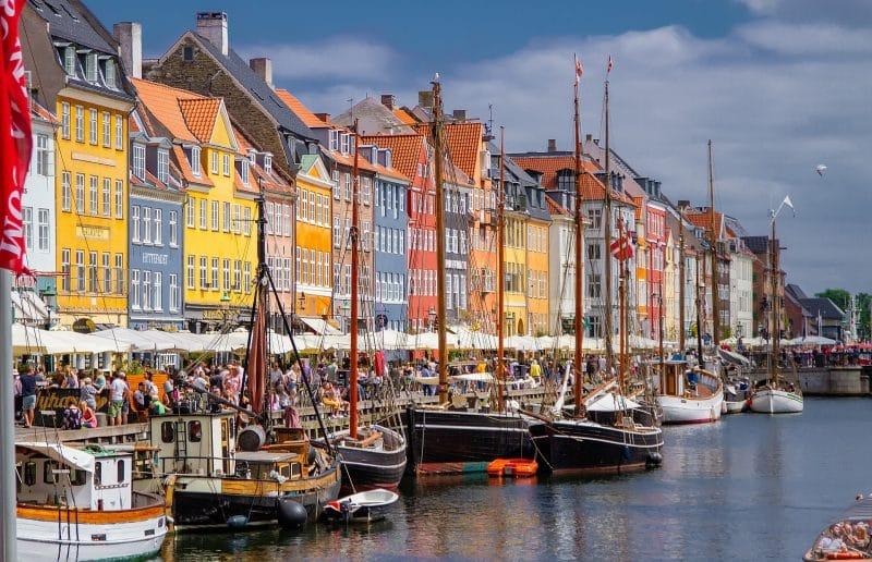 Nyhavn, na Dinamarca