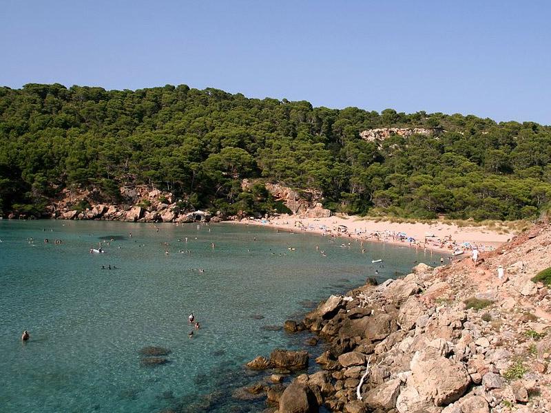 Praias no norte de Menorca