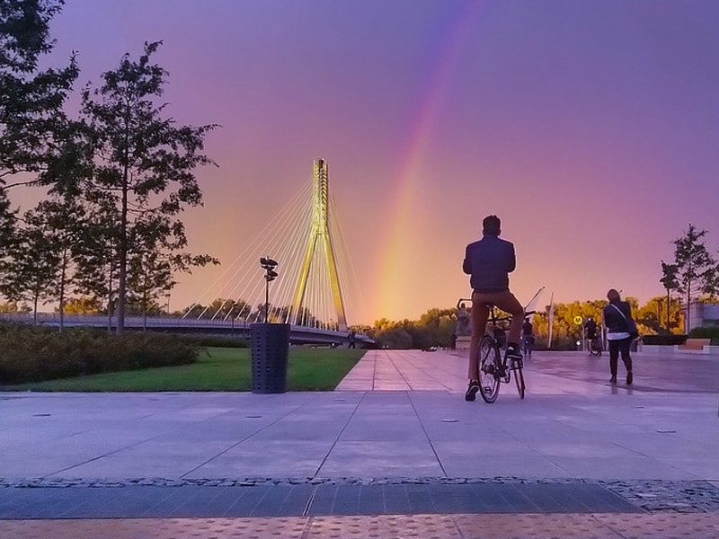 excursão de bicicleta em varsóvia