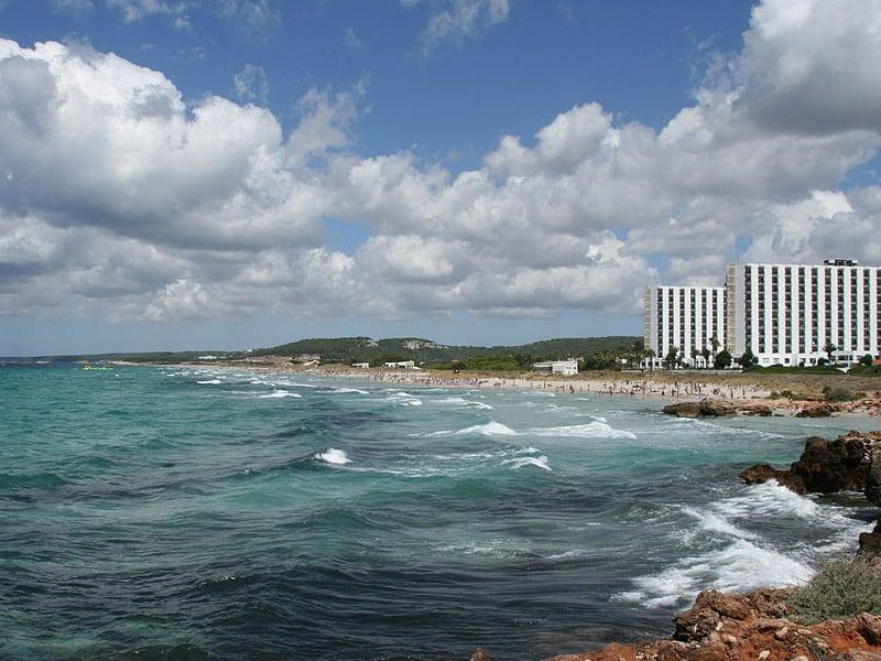 Maior praia de Menorca
