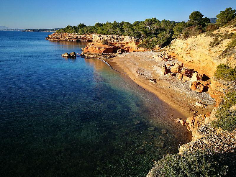 praias para nadar em ibiza