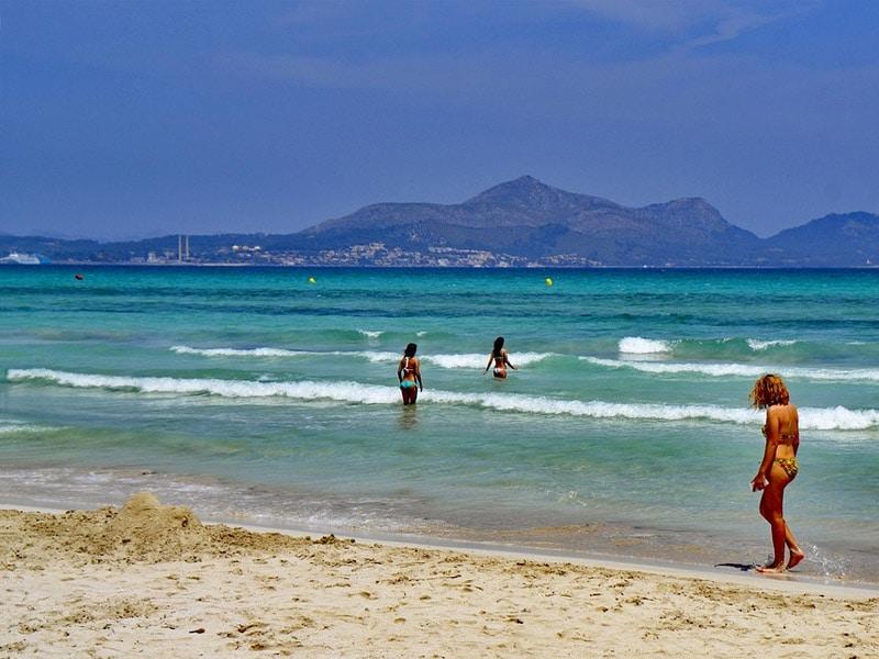 Maior praia de Maiorca