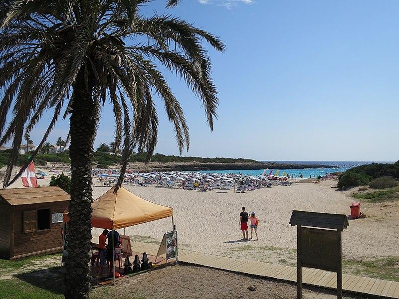 Praias para esportes aquáticos Menorca