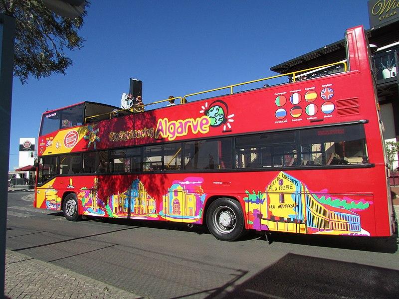ônibus turístico algarve