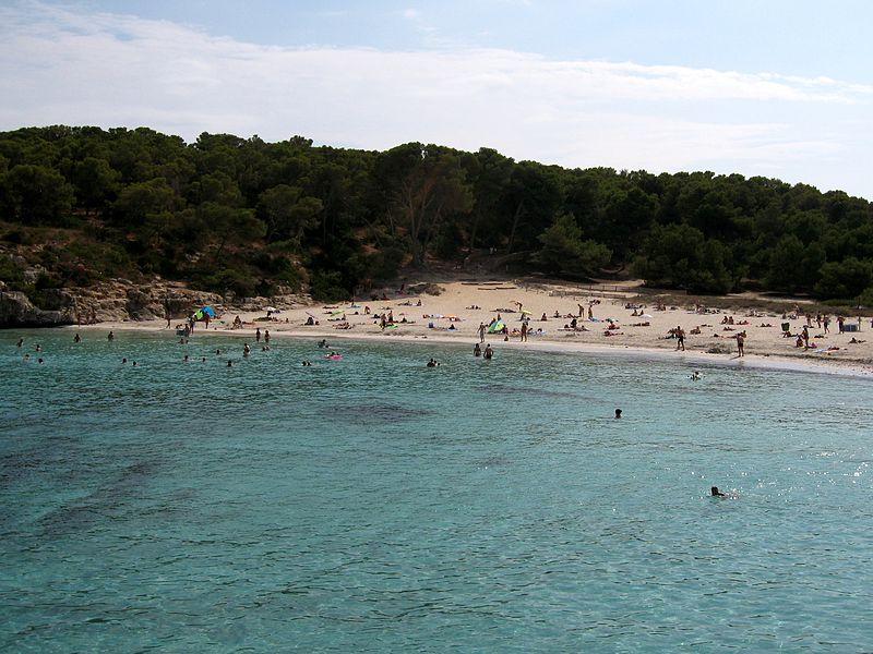Praias de areia branca Maiorca