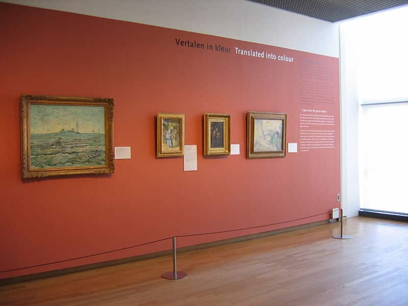 Visitantes do museu Van gogh