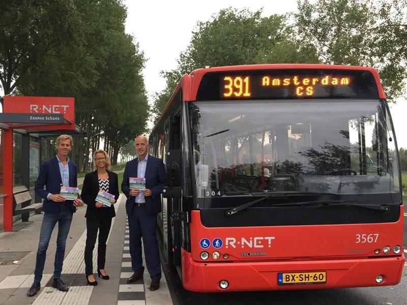 ônibus de amsterdam para zaanse schans