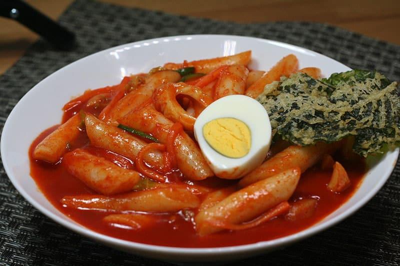 culinária da coreia tteokbokki