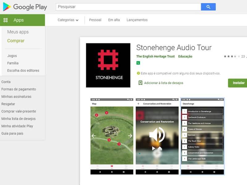 Stonehenge aplicativo