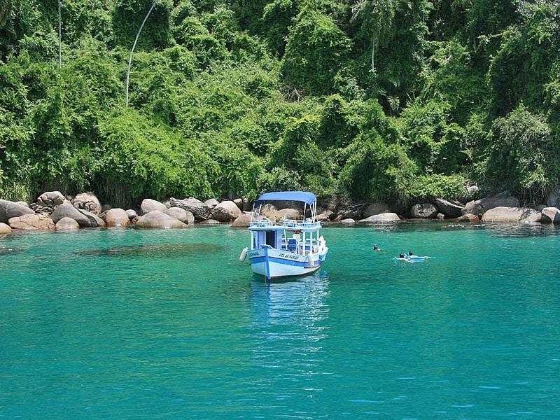 Mapa turístico de Paraty RJ