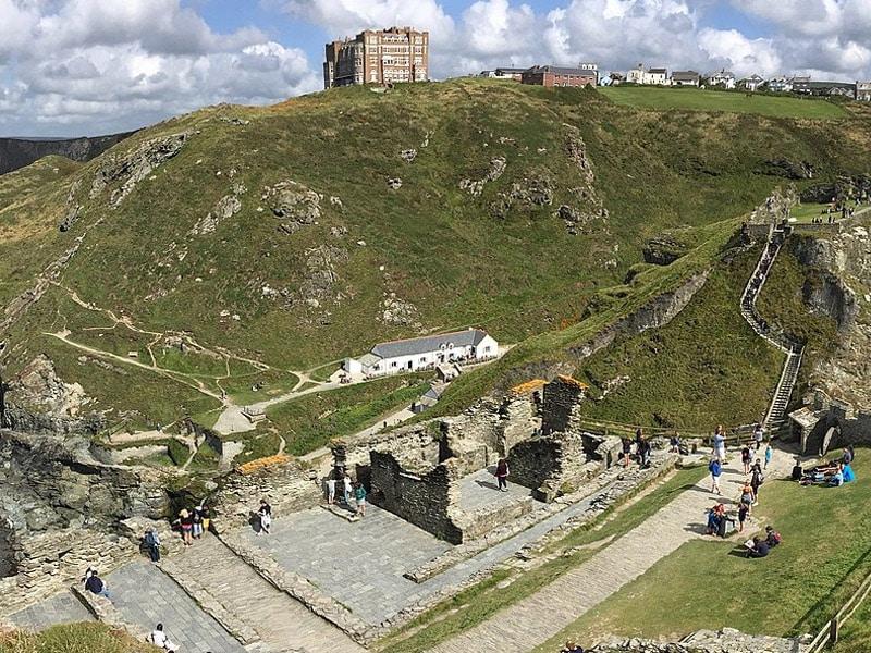 Castelo onde nasceu Rei Arthur Inglaterra