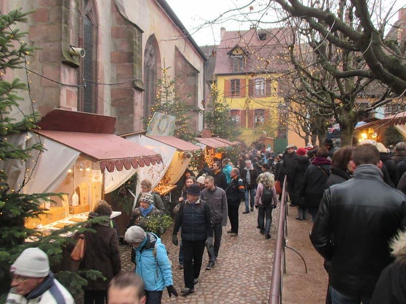Marchés de Noël na França cheios