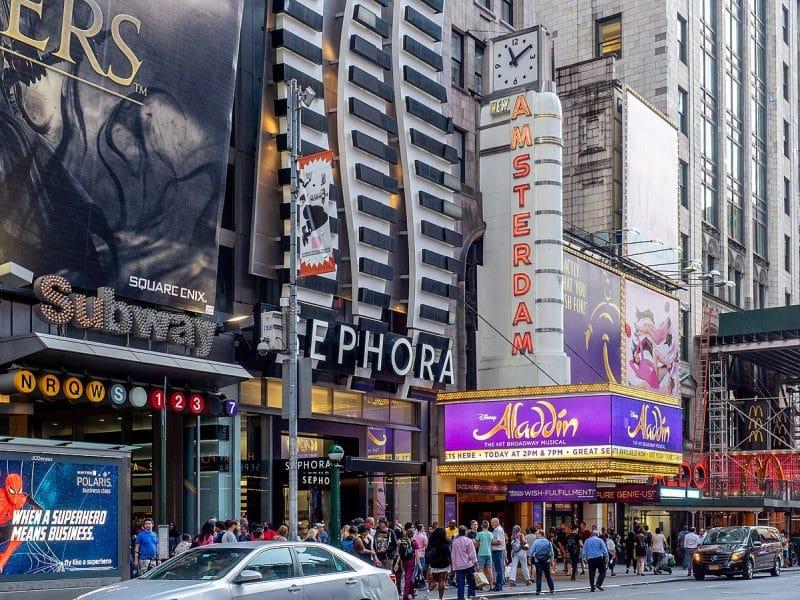 Ingressos para musicais da Broadway em NY de desenhos
