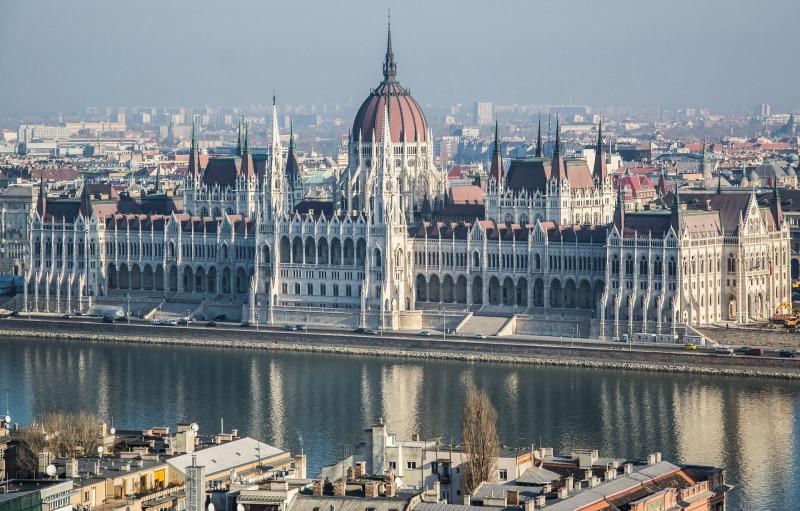 Visão do alto de Budapeste