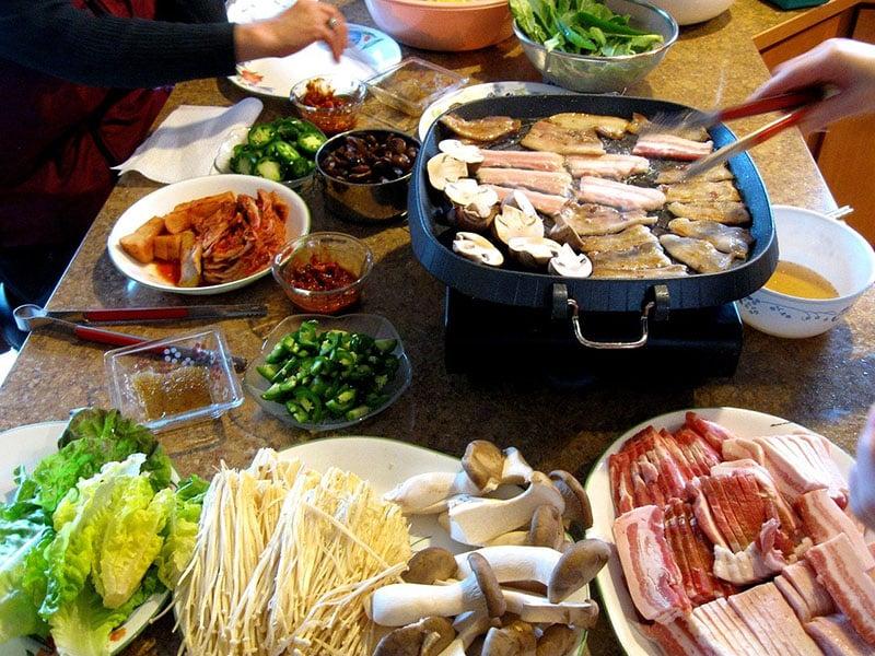 Comidas tipicas da Coreia