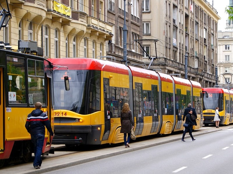 meios de transporte em varsóvia