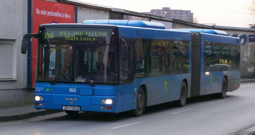 ônibus na croácia