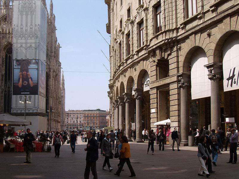 Compras baratas em Milão