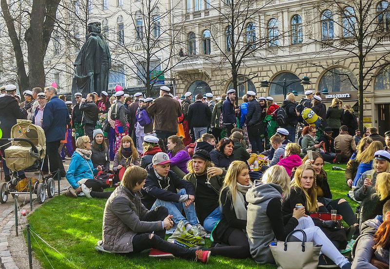 Festa dos estudantes na Finlândia