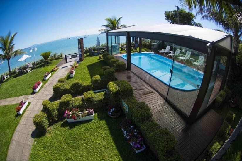 Hotéis de Floripa de frente para a praia