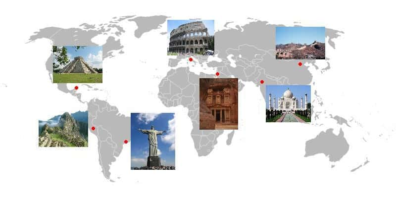 Quais países possuem maravilhas do mundo