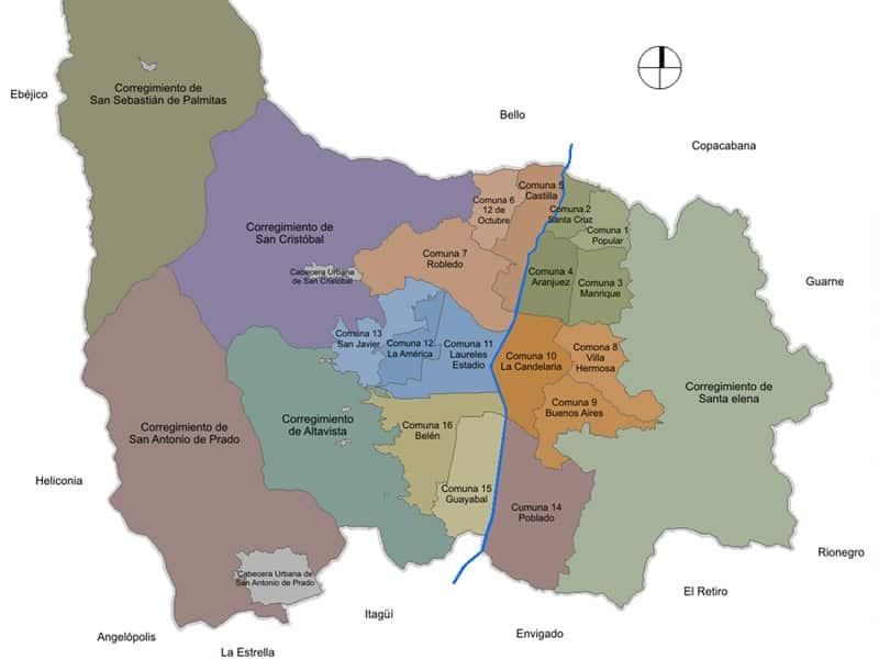 medellín mapa