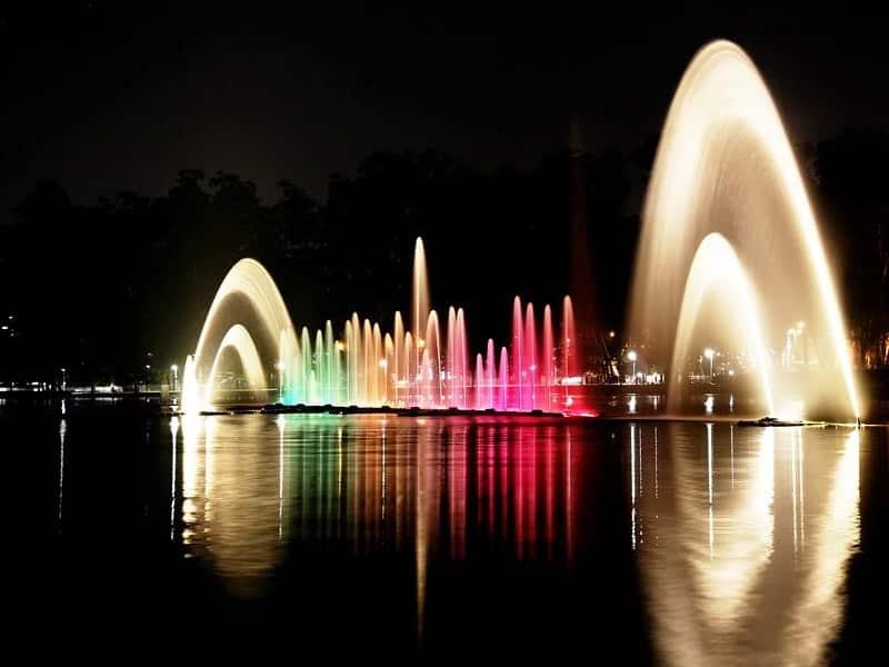 Show de luzes Ibirapuera