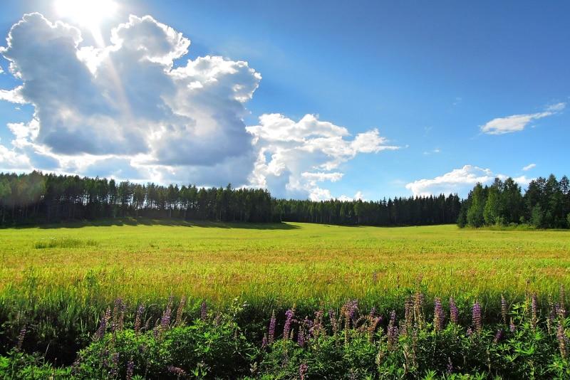 sol da meia-noite na Finlândia