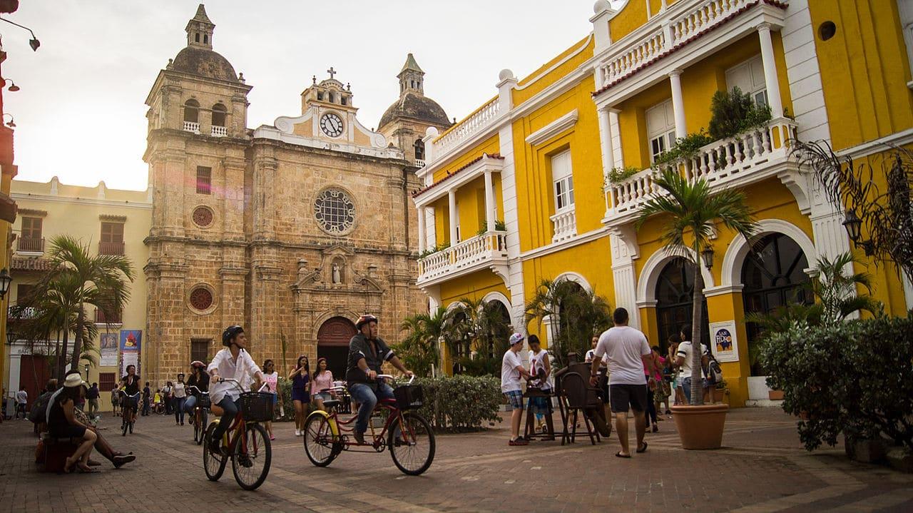 passeio de bicicleta em Cartagena