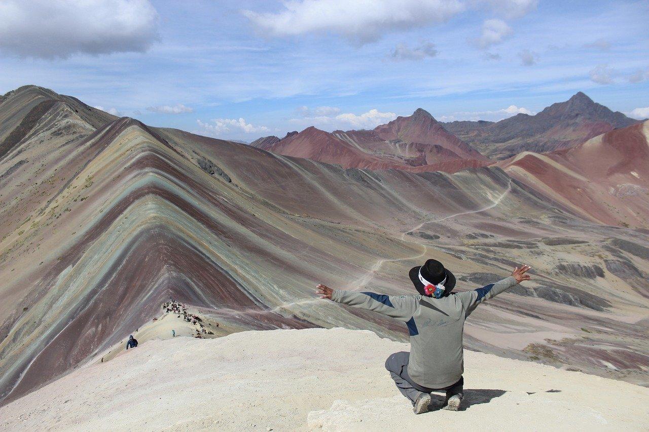 Montanhas coloridas da América