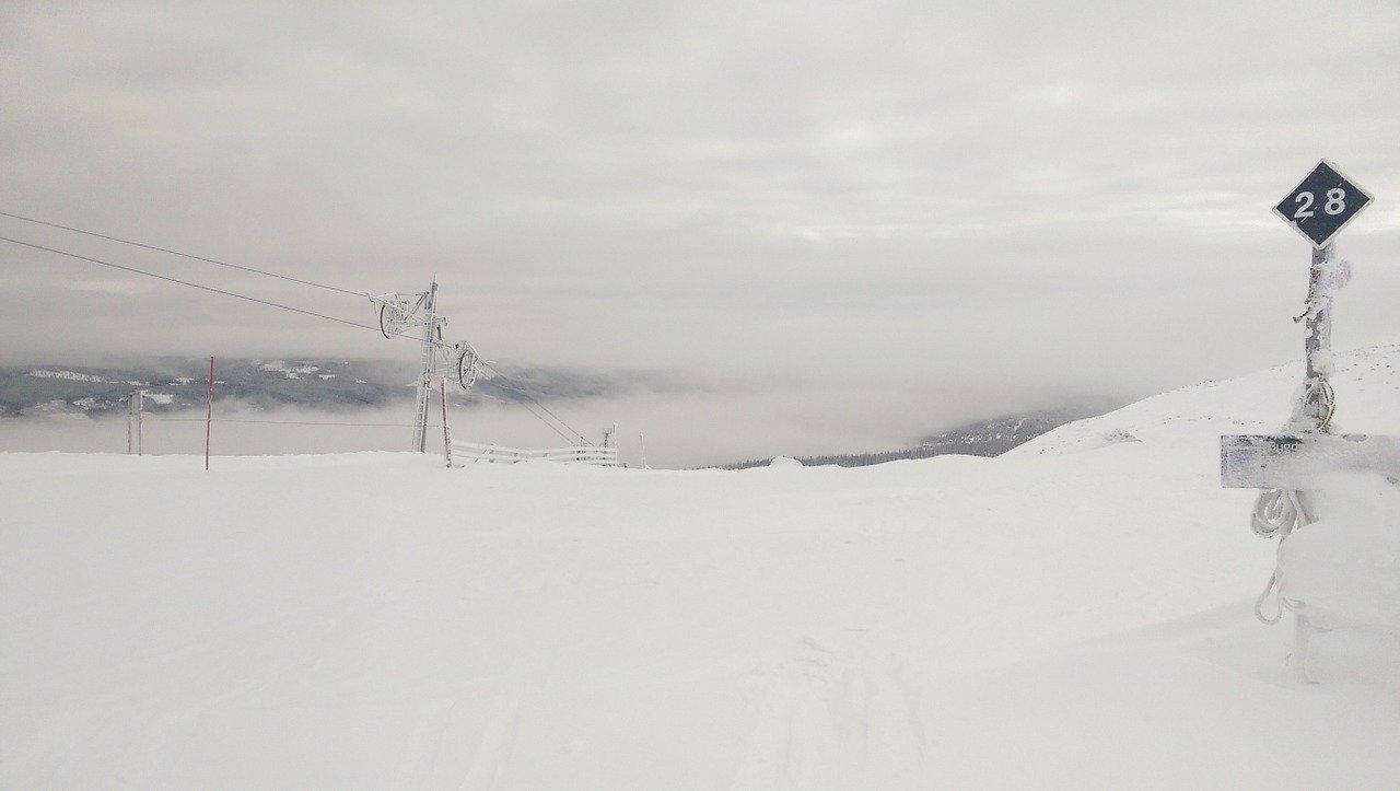 Estação de esqui na Noruega