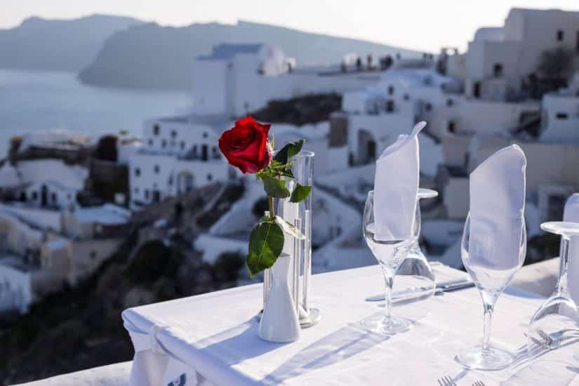 Restaurantes em Santorini