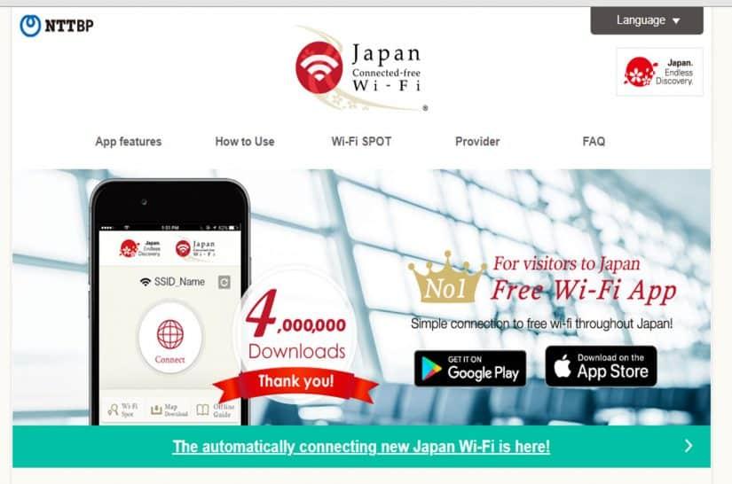 internet no japão turista