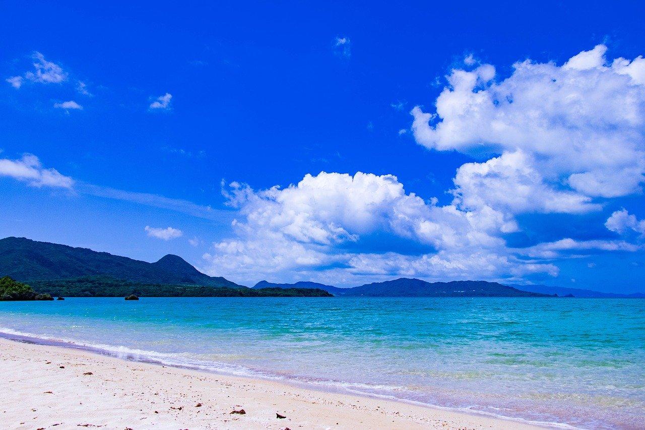 Praia no Japão