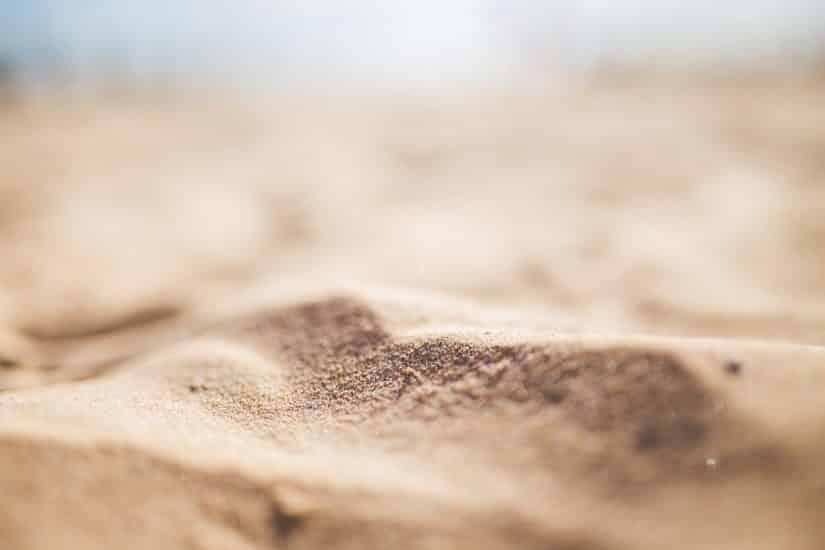 como acampar na areia