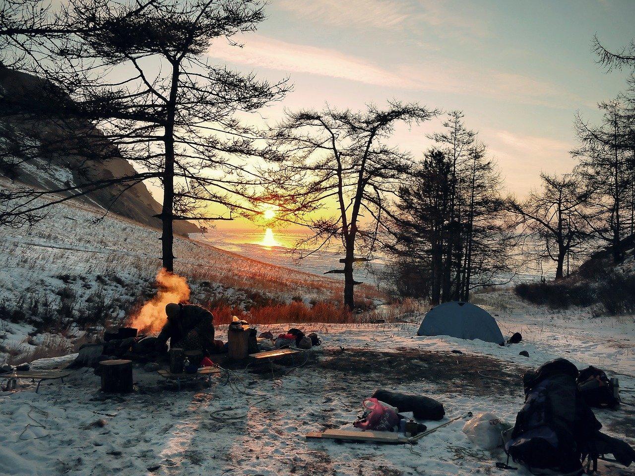 como acampar no inverno