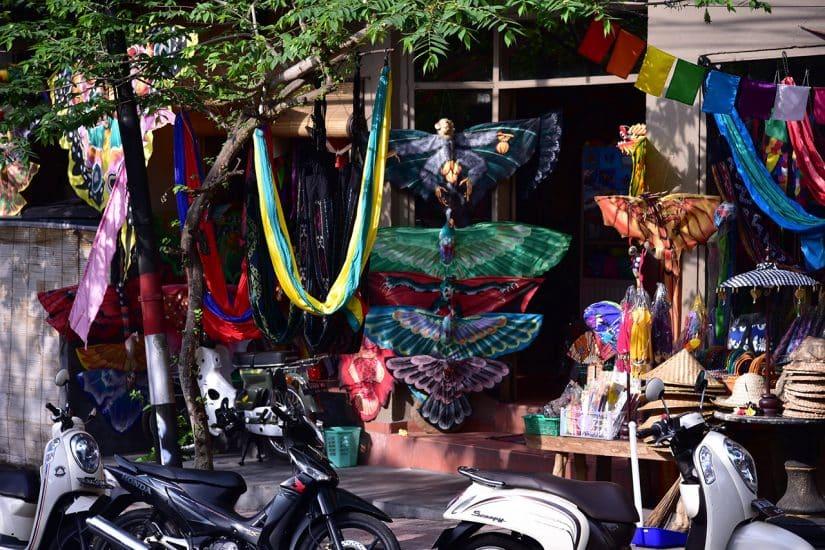compras em Ubud
