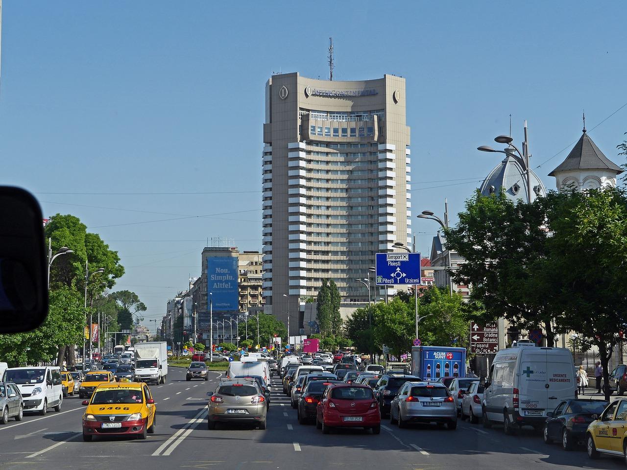transito em Bucareste
