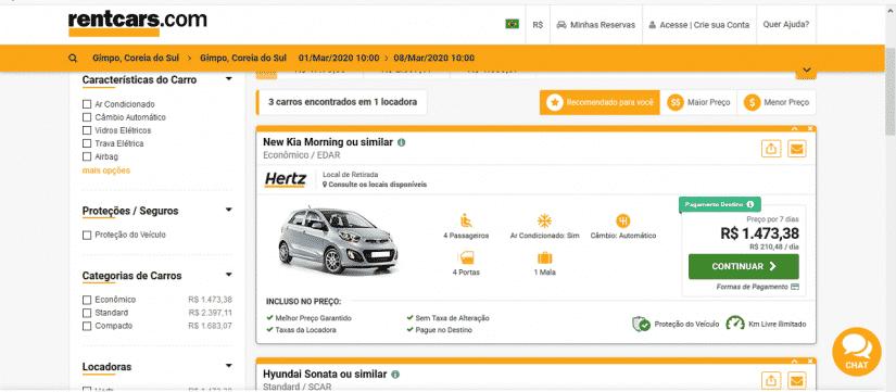 Aluguel de carro na Coreia: qual locaora é melhor?