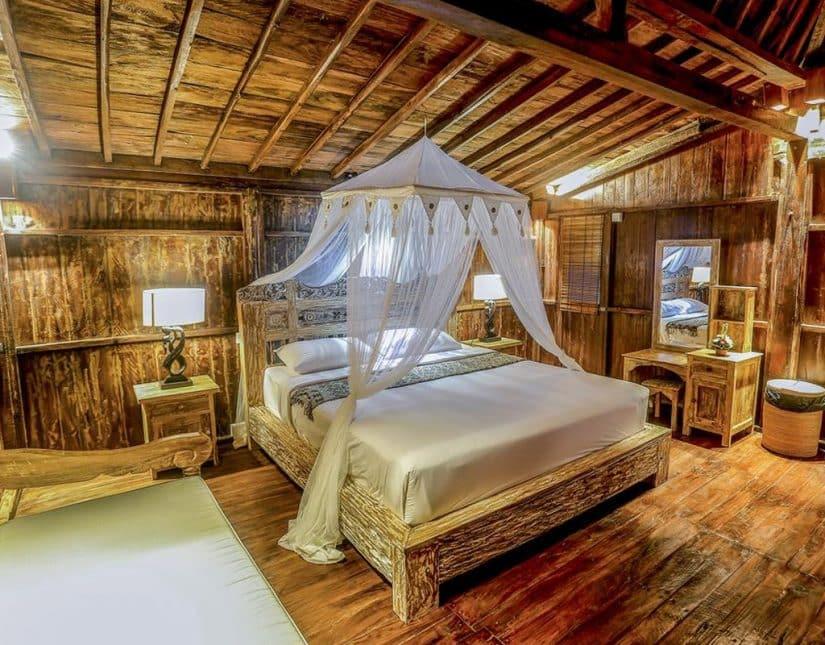 hotel rústico em bali