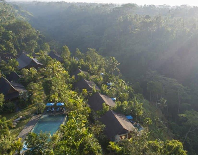 hotel com vista para floresta em bali