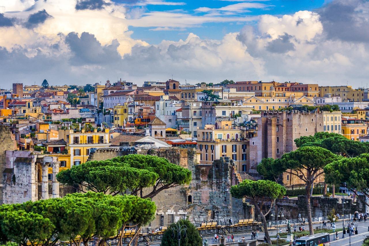 Lugares diferentes em Roma