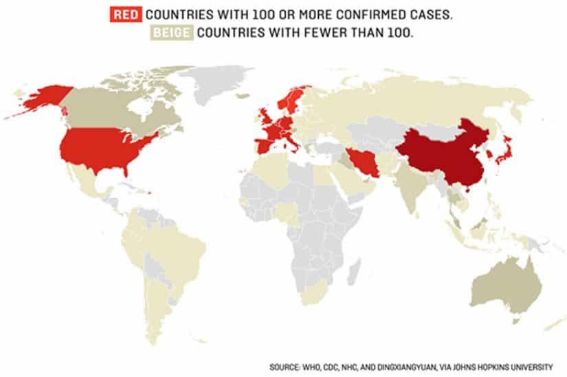 Como está o Coronavírus pelo mundo