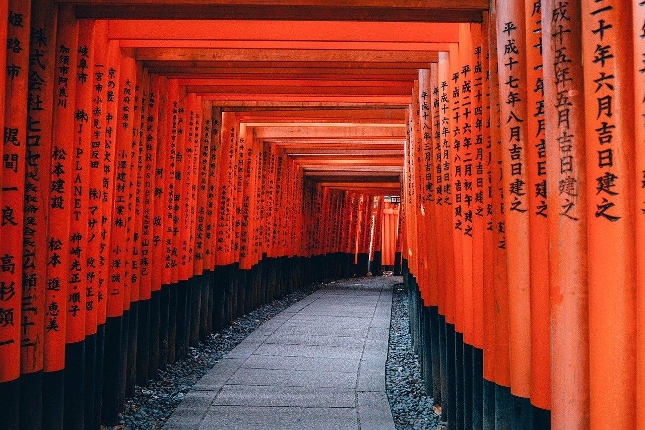 trem até Kyoto