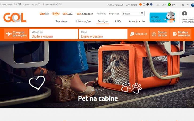 companhias aereas internacionais que permitem animais na cabine